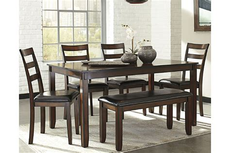 dining room table with bench and chairs coviar dining room table and chairs with bench set of 6