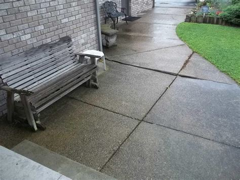 Leveling A Patio by Baker S Waterproofing Concrete Lifting And Leveling
