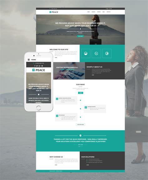 responsive templates for business website business responsive website template 57549