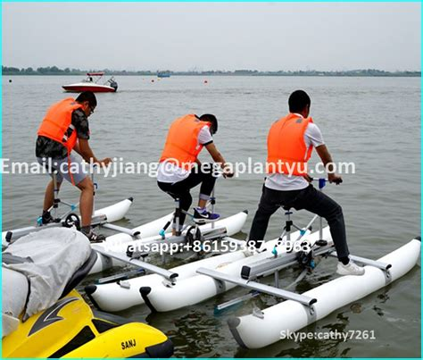 inflatable pedal boat for sale single passenger pvc pontoons inflatable pedal water bikes