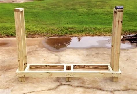 build firewood cutting rack 4 free firewood rack plans built from 2x4s two 30