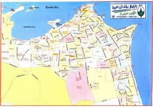 detailed al kuwait city roads map al kuwait city detailed