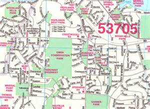 Madison Zip Code Map by Madison Wall Map Cartography Sample