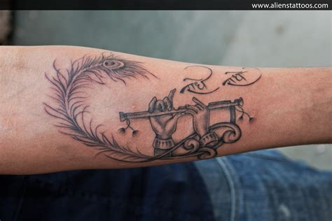 lord krishna flute inked by at aliens