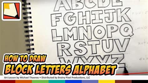 draw block letters alphabet hand lettering art