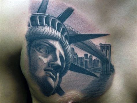 nyc tattoo artist license 70 statue of liberty tattoo designs for men new york city