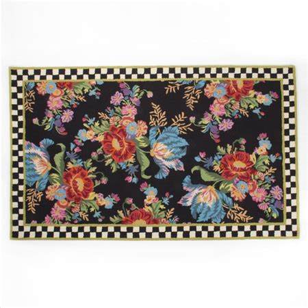 mackenzie childs rugs mackenzie childs flower market rug 5 x 8 chelsea gifts