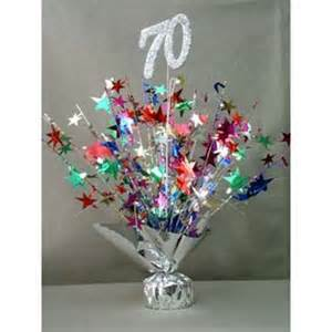 birthday table decoration for 70th birthda photograp