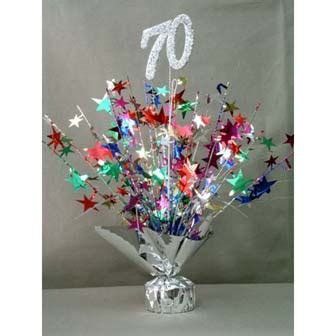 elegant birthday table decoration for 70th birthda photograp