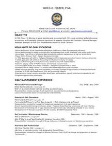 golf resumes college golf resumes best resume collection golf professional resume exle