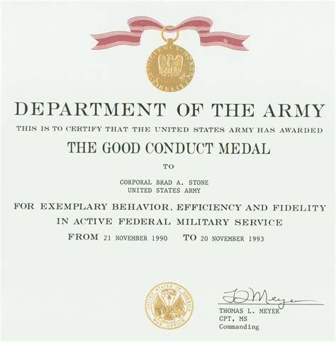army conduct medal certificate template army conduct medal certificate template wzcs site
