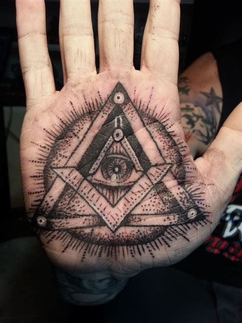 palm tattoos for men illuminati eye on ideas palm