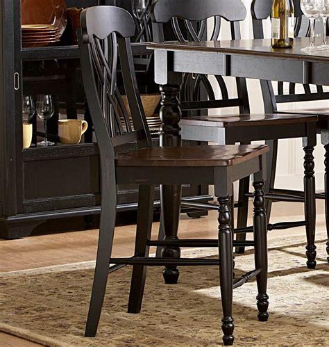 Black 7 Dining Room Set by Homelegance Ohana 7 Counter Height Dining Room Set