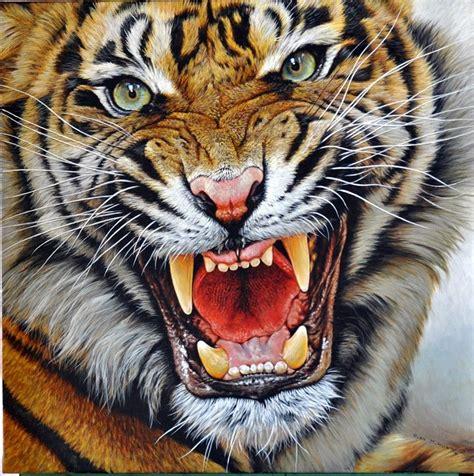 Painting Tiger original tiger paintings indian bengal siberian tigress cubs ranthamboure the watchmen