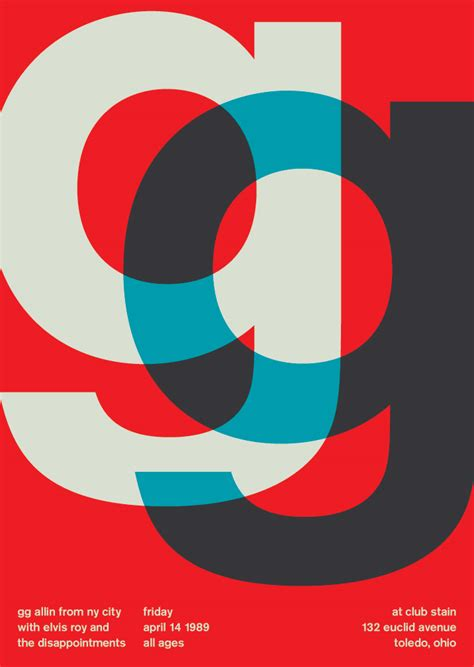 swiss design graphic design swissted the rock posters of mike joyce