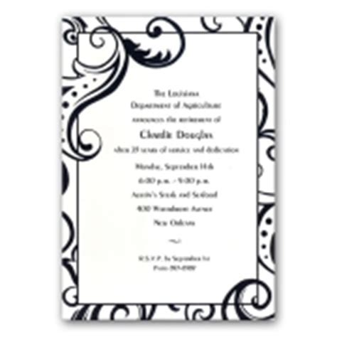 Black Filigree Retirement Invitations   PaperStyle