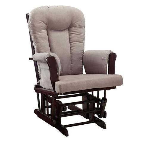 glider rocking chair and ottoman glider rocking chair and ottoman set in espresso and gray