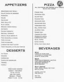 sorrento dinner menu