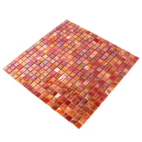 glasmosaik fliesen perlmutt effekt rot mix tm33315