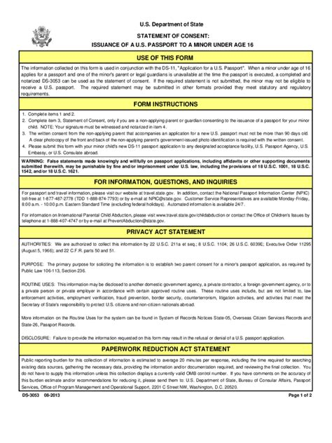 passport consent forms passport parental consent form 2 free templates in pdf
