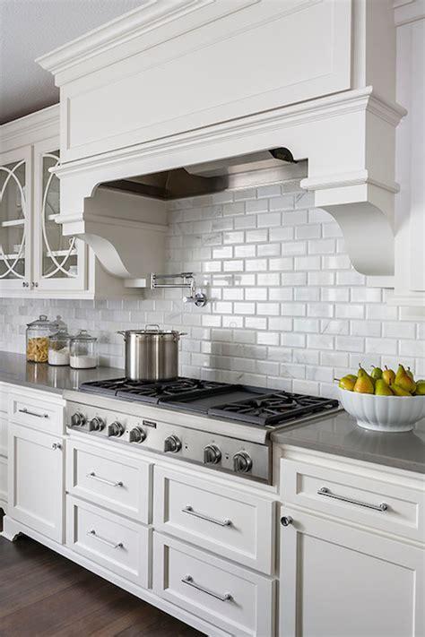beveled subway tile kitchen beveled marble subway tiles transitional kitchen casa verde design