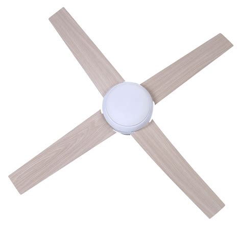 52 inch white ceiling fan with light 52 inch 1300mm 4 blade led ceiling fan with light l in