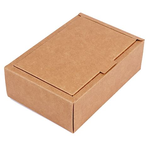 Craft Paper Box - brown kraft paper folding flap covered gift box esgreen