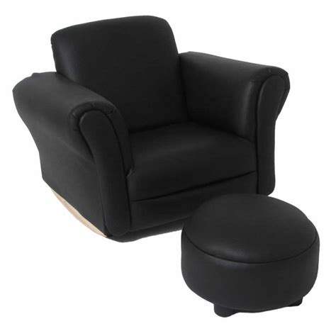 Baby Chair And Ottoman Valco Baby Kiddy Sofa Seat W Ottoman Foot Rest Lounge Chair Black Ebay