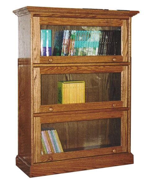 Amish Traditional Barrister Bookcase Traditional Bookshelves