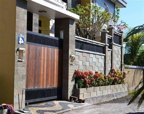 inspirasi desain tembok pagar rumah minimalis terbaru