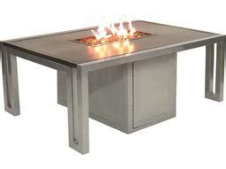 oakland living moonlight 48 in gas pit table oakland living moonlight aluminum 48 gas firepit