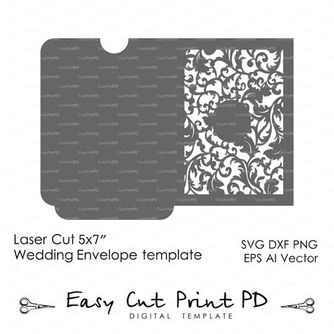 5x7 Card Template Ai by 5x7 Quot Wedding Leaves Envelope Template Laser Stencils
