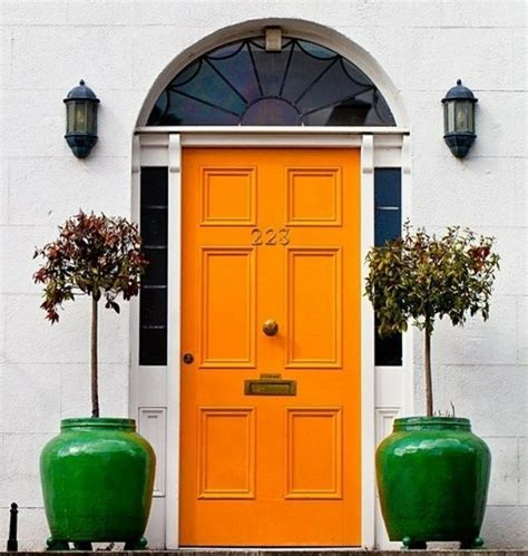 orange front door front entry doors that make a strong first impression