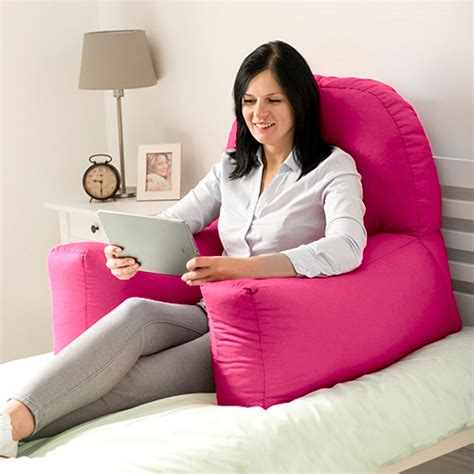 pillow for sitting up in bed chloe bed reading bean bag cushion arm rest back support