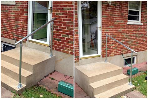 exterior banister easy to install outdoor stair railing