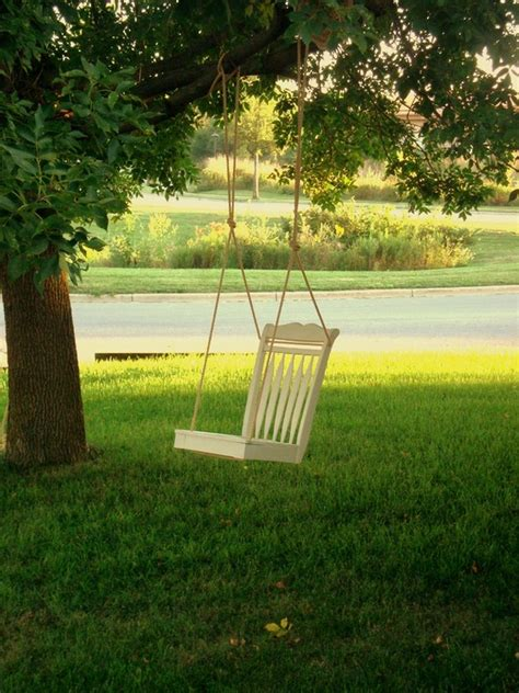 tree chair swing 15 diy garden swings you can make for your kids