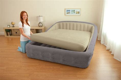 intex queen size comfort frame air bed  hand held ac