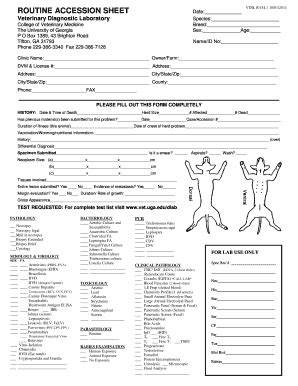 veterinary forms templates sle necropsyautopsy report fill printable