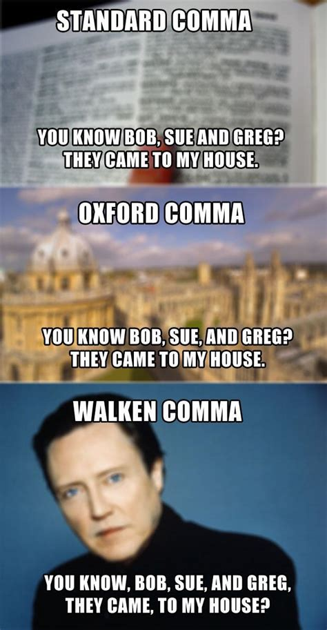 Oxford Comma Meme - walken comma oxford comma know your meme