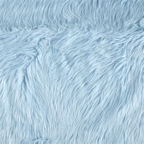 Faux Fur Upholstery Fabric by Shannon Faux Fur Luxury Shag Baby Blue Discount Designer