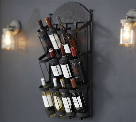 Pottery Barn Wine Rack Wall by Vintners Wall Mount Wine Rack Pottery Barn