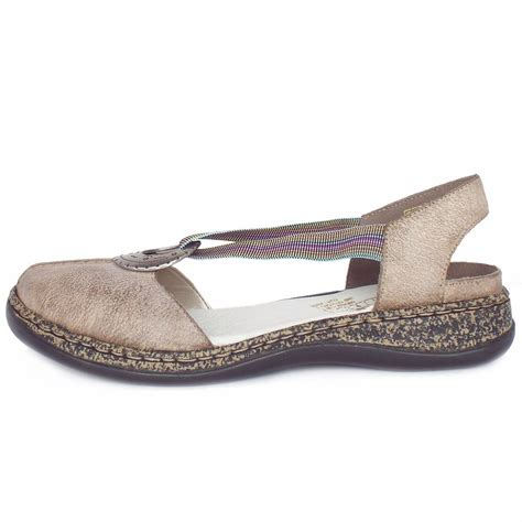 closed toes sandals rieker antistress delight 46362 64 s closed toe
