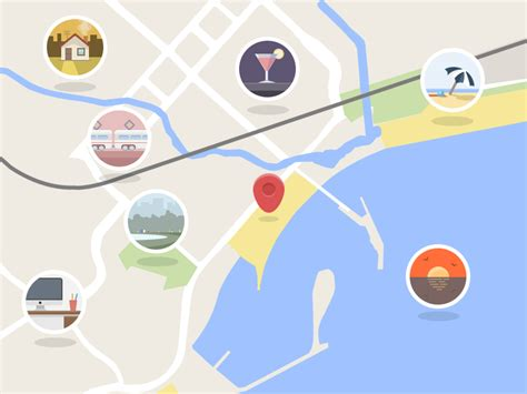 flat design guide google flattened google maps by maciej serafinowicz dribbble