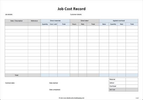 job sheet example cost template new pictures add c 3 emmabender