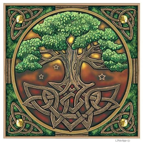 celtic tree of life yule cards by lisa parker