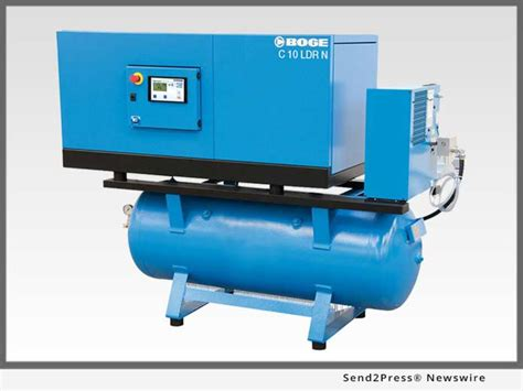 boge launches new line of rotary air compressors direct drive low speed tank mounted
