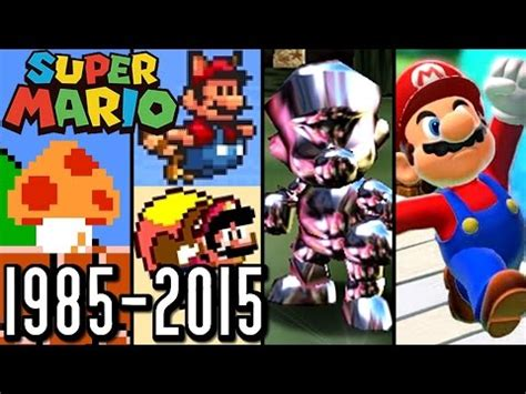 super mario all power ups 1985 2015 (wii u, 3ds, n64, snes