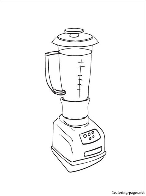 coloring pages for kitchen utensils blender coloring page coloring pages