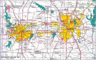 only pictures dallas fort worth map