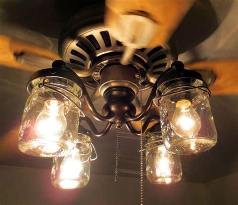 mason jar ceiling fan light kit 1000 ideas about rustic ceiling fans on pinterest